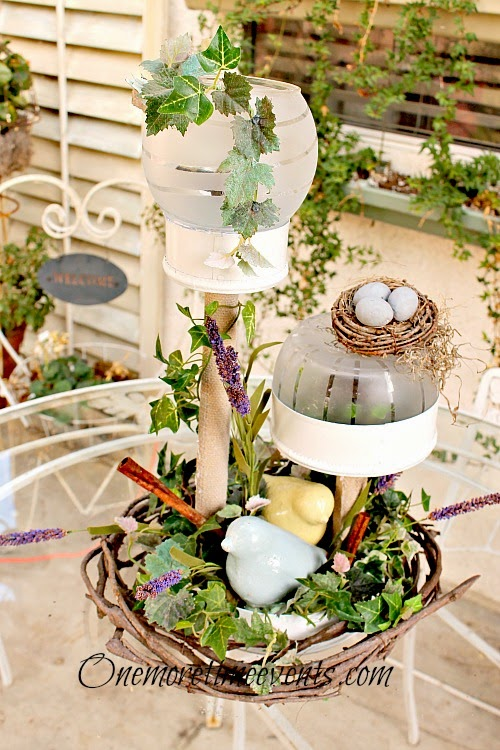 spring outdoor solar centerpiece at One More Time Events.com