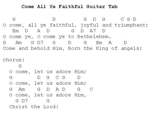 Christmas Carols - Lyrics and History: Oh Come, All Ye Faithful
