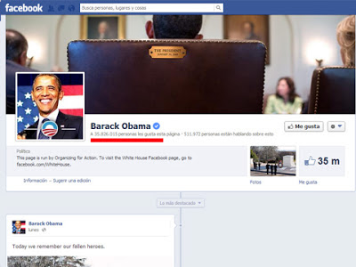 Paginas y Perfiles verificados en Facebook Obama