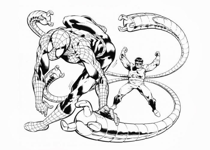 Doctor Octopus Coloring Pages Free Coloring Pages And Doctor Octopus Coloring Pages