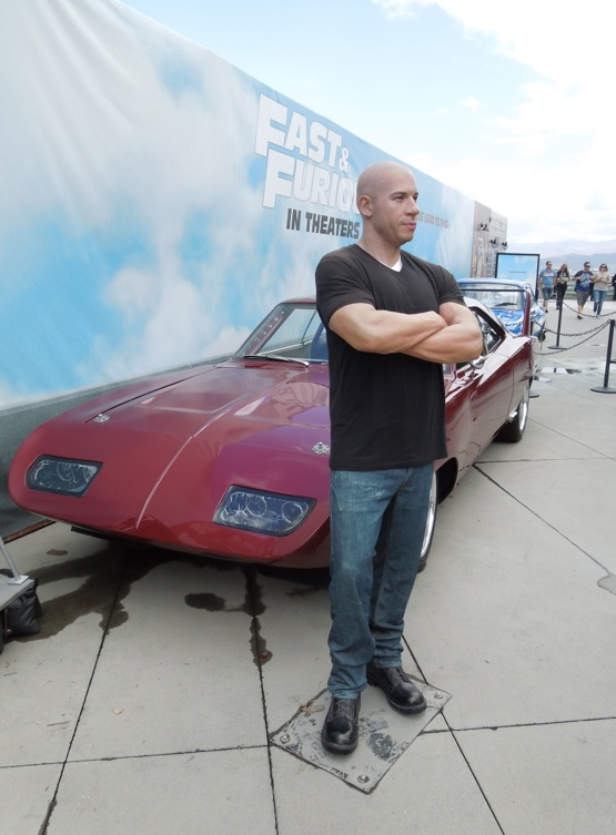 Vin Diesel waxwork 1969 Dodge Charger Daytona Fast Furious 6