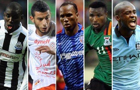 African footballer of the year shortlist Demba Ba Younes Belhanda Didlier Drogba Christopher Katongo Yaya Toure