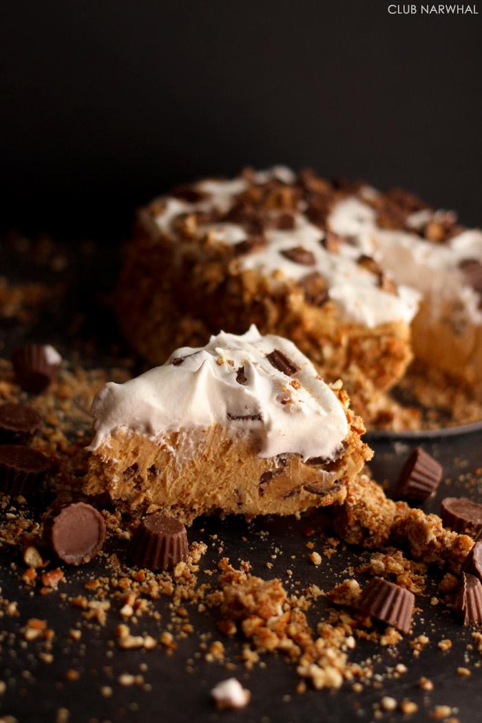 Easy Peanut Butter Pie with Pretzel Crust