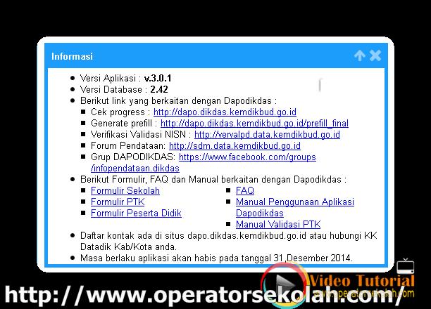 Panduan cara instal aplikasi dapodikdas patch v.3.0.1/ v.301/ v.3.01 ...