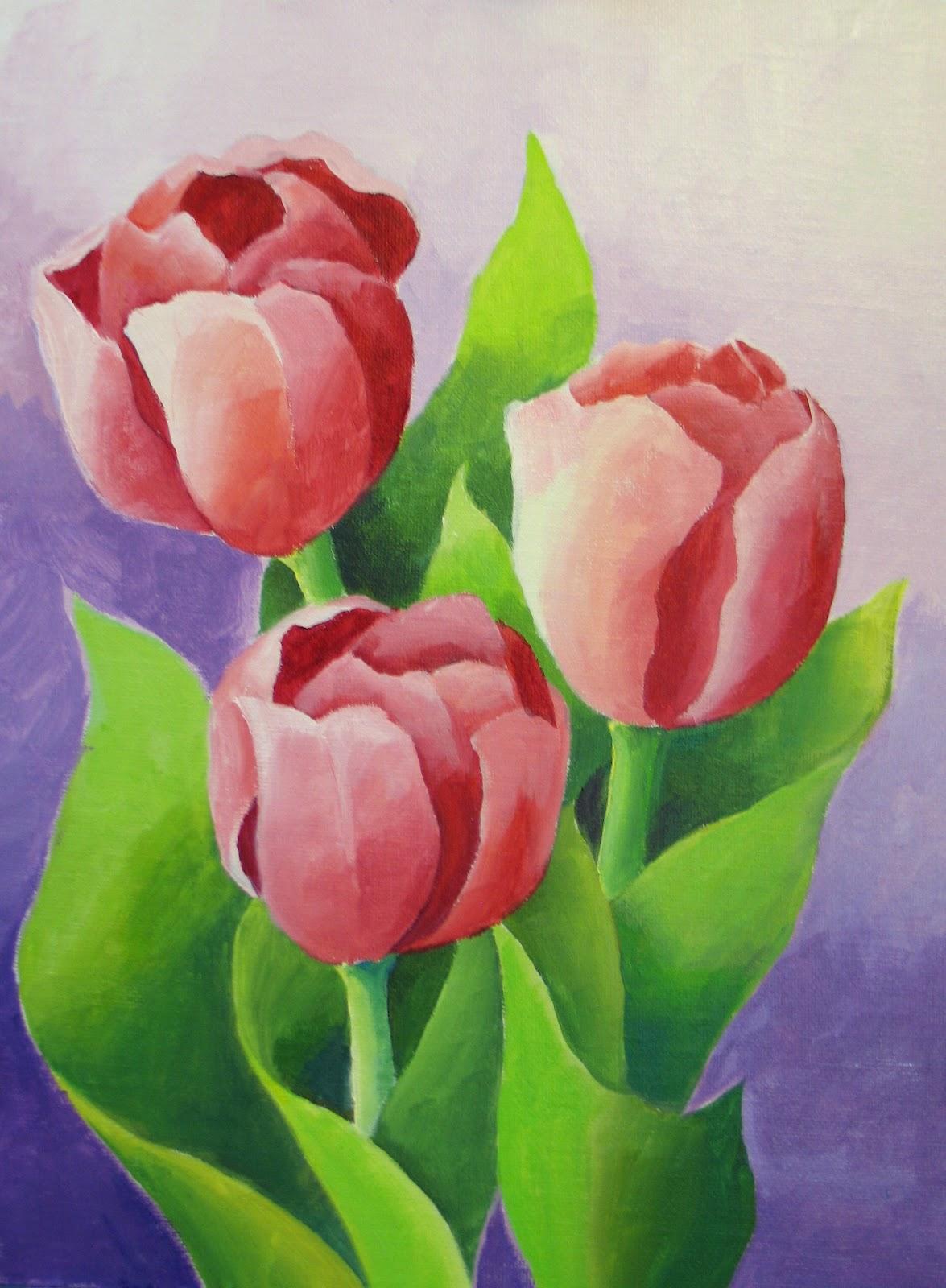 Tulip Acrylic Painting