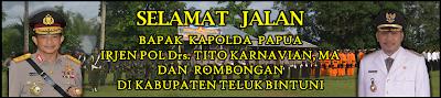 Spanduk Selamat Jalan Kapolda Papua