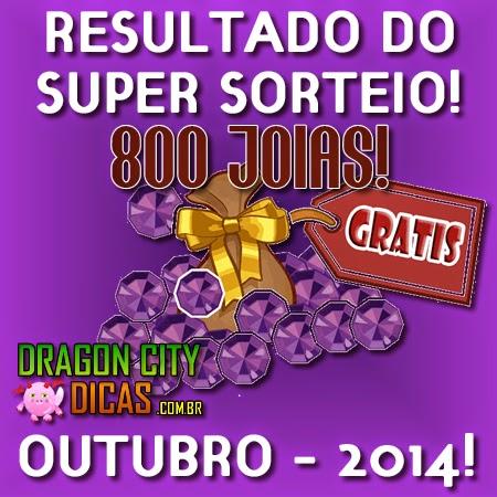Resultado do Super Sorteio de 800 Joias - Outubro 2014