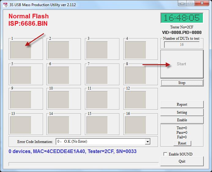 SSS6686 Tc58nc6686 mptool v2.112