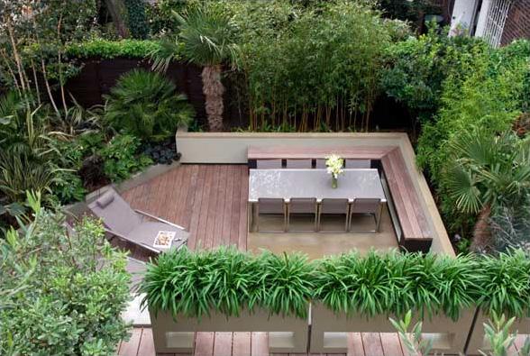 Modern garden furniture home design interior for Gartengestaltung 100m2