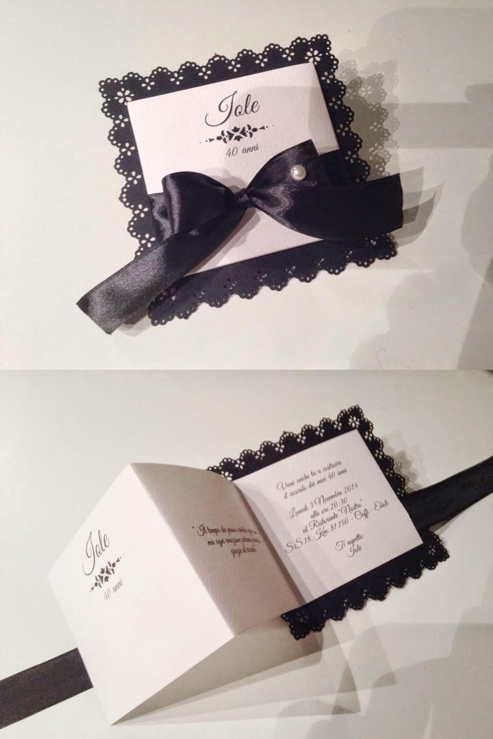 Amato Compleanno in bianco e nero: invito per i 40 anni SG81