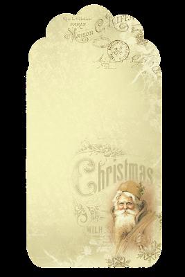Etiqueta Santa Claus Retro.