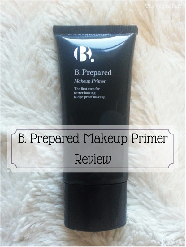 b prepared makeup primer review the vegan taff. Black Bedroom Furniture Sets. Home Design Ideas