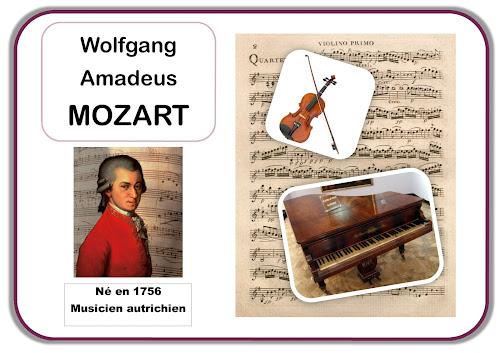 Mozart - Portrait d'artiste en maternelle