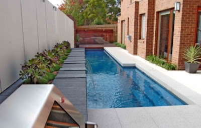 lap pool with small pool combo