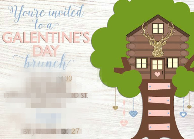 Galentine's Party invitation by Painting Paris Pink for Fizzy Part