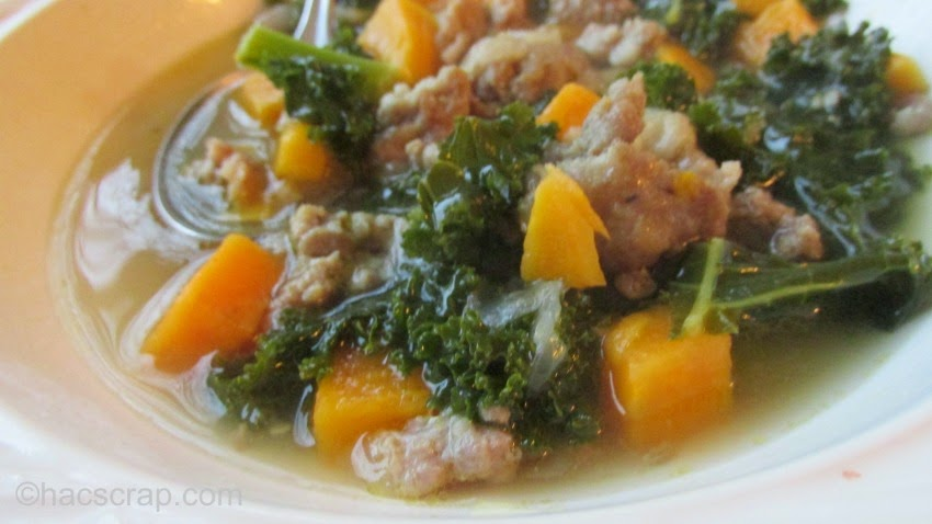 Easy and Delicious Sausage Kale and Sweet Potato Soup