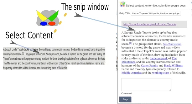 Snip to Drive chrome extension