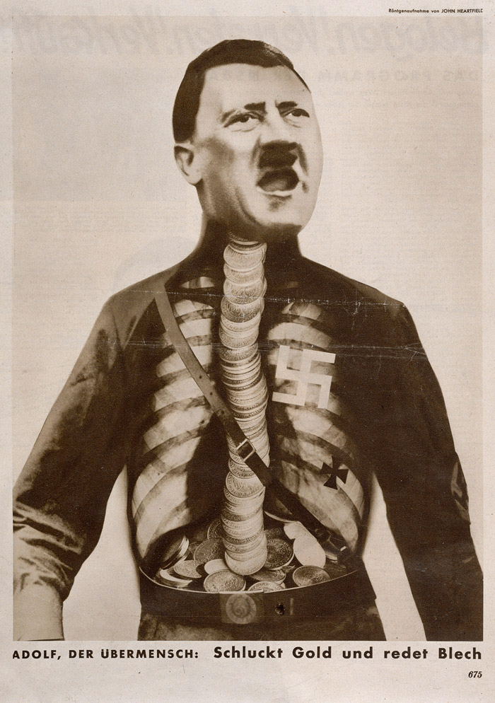 Doctor Ojiplático.Fotomontaje de entreguerras (1918–1939). John Heartfield, Dadaismo Antifascista. Merrill C. Berman.Fundacion Juan March