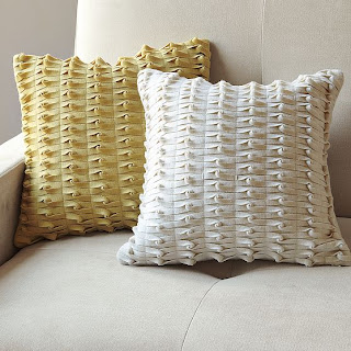 weaving pillows: felt lattice pillow tutorial