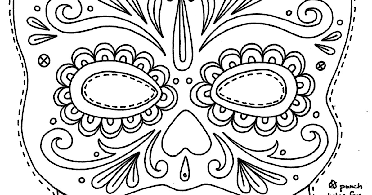 Yucca Flats N M Wenchkin S Coloring Pages Sugar Skull Day Of The Dead Mask Coloring Pages