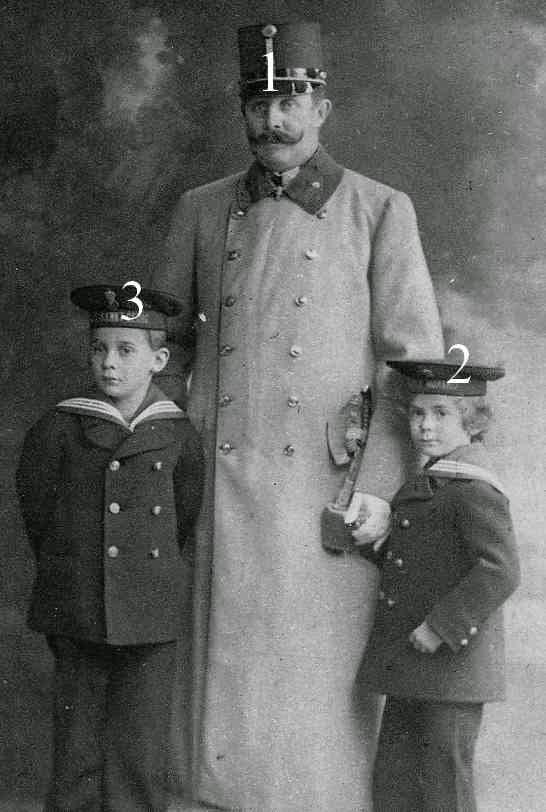 Franz Ferdinand d'Autriche, Maximilian et Ernst von Hohenberg