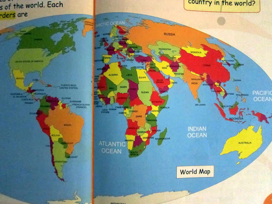 Bridget of arabia year 2 social studies finally i was intrigued by this basic world map that is included on one of the first pages of the textbook it appears to be a different projection than gumiabroncs Gallery