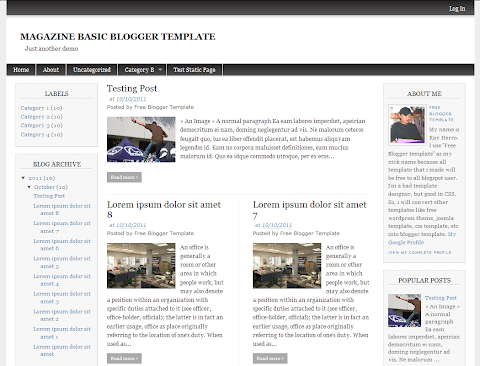Magazine Basic Blogger Theme