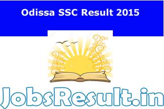 Odissa SSC Result 2015