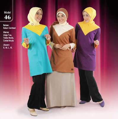 Qirani Collection Ungu tua Tosca Coklat muda