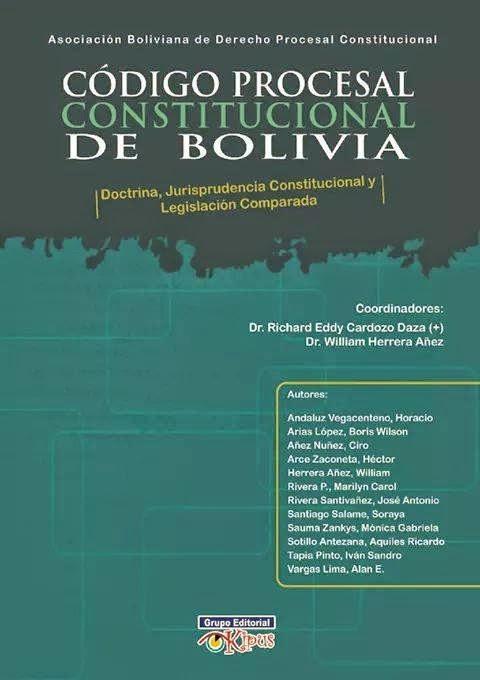 CÓDIGO PROCESAL CONSTITUCIONAL DE BOLIVIA