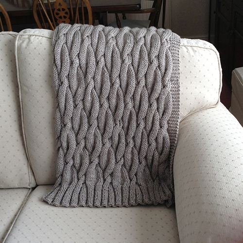 Daily Knitting Patterns: Chunky Aran Cable Blanket