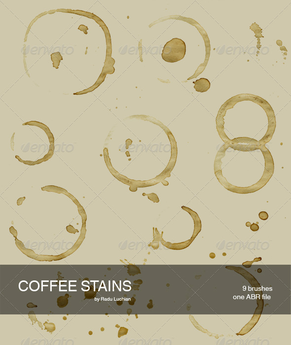 9 Coffee Stain Brushes