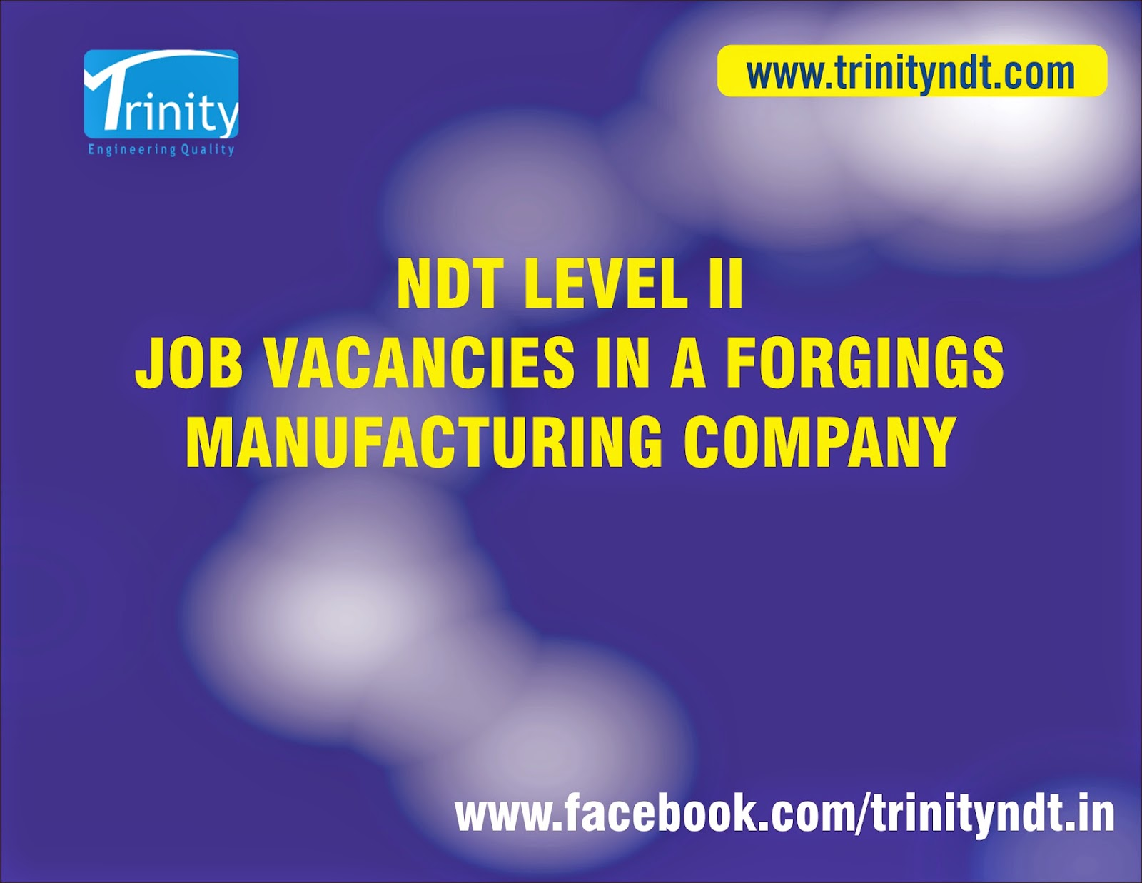 ndt vacancies in forging company x machines