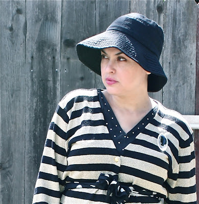 outfit post: Stripes & Polka Dots, the Gold Edition