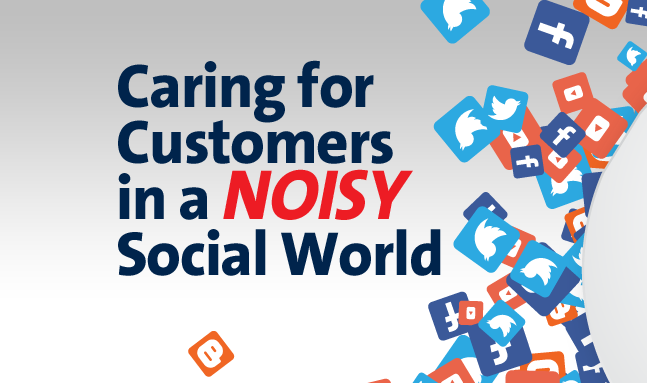 Caring For Customers In A Noisy #SocialMedia World - #infographic
