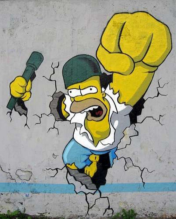 Graffitis de los Simpson - The Simpsons Graffiti