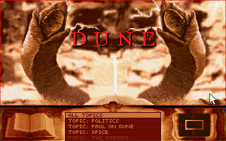 Dune 1 PC video game from 1992