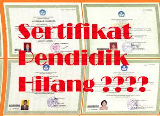 gambar sertifikat pendidik hilang