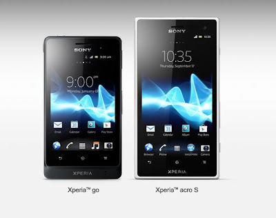 Sony anuncia Xperia Acro S e Xperia Go com timas configuraes e resistentes a gua (atualizado com vdeos)