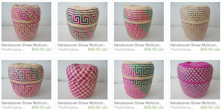 handmade artisan baskets weave etsy