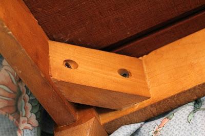 footstool reinforced corner