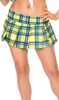 yellow school girl skirt
