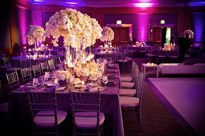 Purple Plum Modern Wedding table Dercoration Ideas | Wedding ...