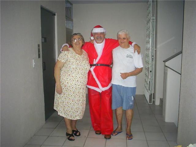 O Poeta vestido de papai Noel