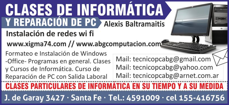 reparacion y clases de informatica