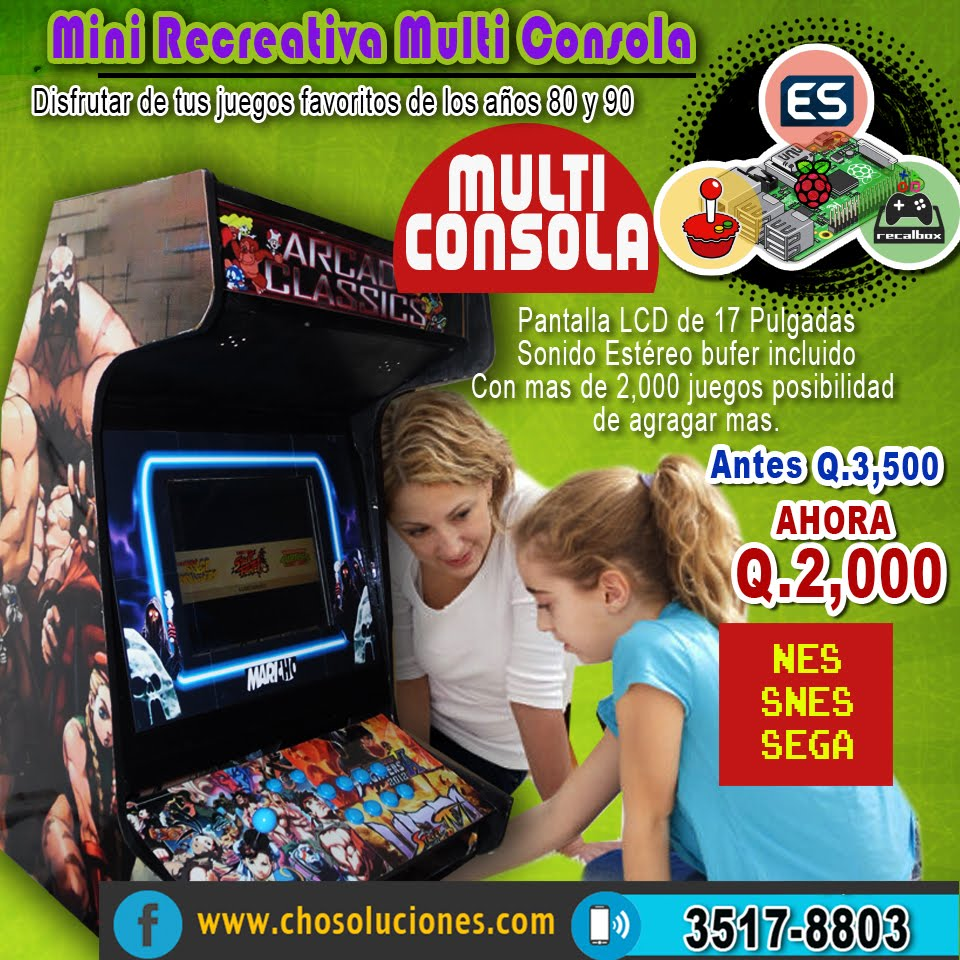 Mini Recreativa Multi Consola