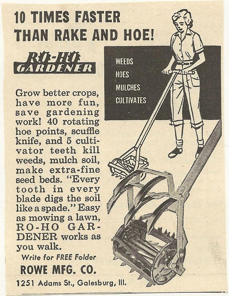 1950s Ad: RO HO Gardener