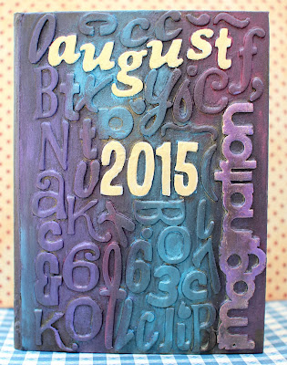 Mixed Media Art Journal cover by Ilene Tell