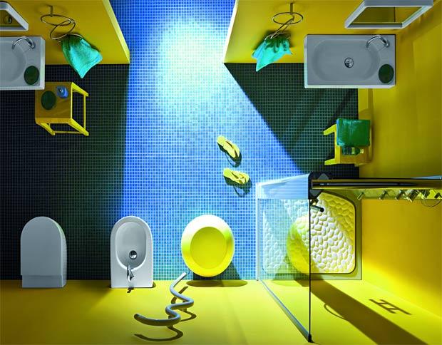 Arredare il bagno bagno di design il verde acido - Colore bagno piccolo ...