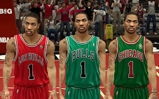 NBA 2K13 Chicago Bulls Christmas Jersey Mod